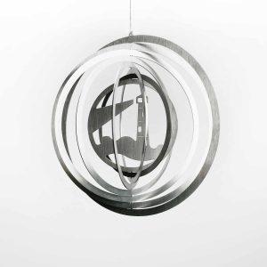Edelstahl Manufaktur Windspiel Leuchtturm