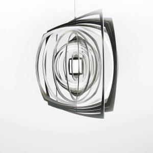 Edelstahl Manufaktur Windspiel Quadrat Kreis Quadrat