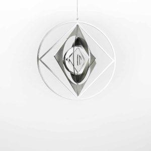 Edelstahl Manufaktur Windspiel Quadrat Im Kreis Klein